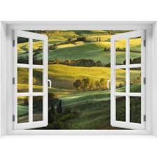 window wall mural beautiful landscape peel and stick fabric zoom