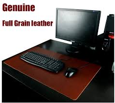 Gaming Desk Pad W410 Free Shipping Genuine Grain Cow Leather Gaming Desk