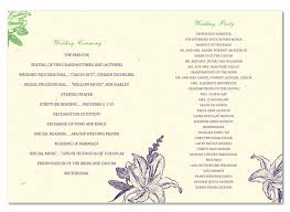 wedding program format s wedding program this program was an