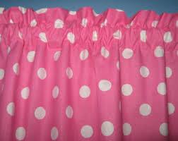 Pink Polka Dot Curtains Polka Dots Curtains Etsy