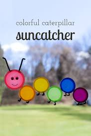 to make a colorful caterpillar suncatcher