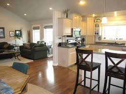 kitchen great room ideas living room and kitchen combined view in gallery house