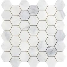 emser winter frost hexagon mix 12 in x 12 in x 10 mm marble