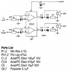 tda2822 1w stereo headphone amplifier circuit amplifier