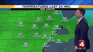 halloween city adrian michigan metro detroit weather temperatures drop overnight before warmup