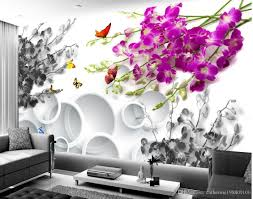 fashion customized orchid open butterfly fashion background wall see larger image