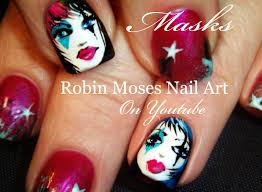 robin moses nail art mardi gras type mask nail art how to paint