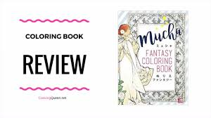 mucha fantasy coloring book review youtube