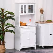 kitchen cupboard doors and drawers homcom kitchen buffet hutch wooden storage cupboard with