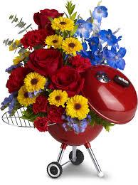 flowers for men weber king of the grill by teleflora men flowers