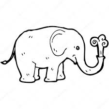 cartoon elephant water u2014 stock vector lineartestpilot