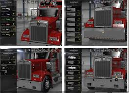 kenworth truck parts and accessories kenworth w900 accessories v1 2 ats euro truck simulator 2 mods
