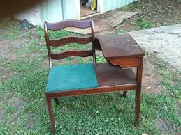 Antique Telephone Bench Vintage Telephone Tables 6874