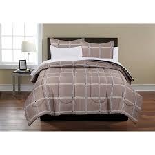 mainstays beige bed in a bag complete bedding set walmart