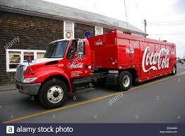 coca cola delivery truck in cape cod new england usa stock photo