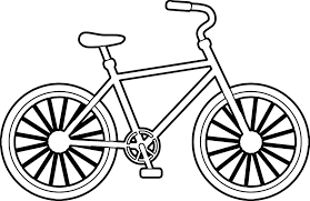 simple bike biycle coloring page wecoloringpage