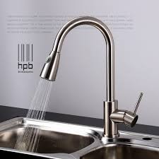 different types of kitchen faucets brass sink mixer and cold water tap pull type retractable