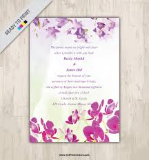 Designs Of Marriage Invitation Cards Watercolor Marriage Invitation Card Design 123freevectors