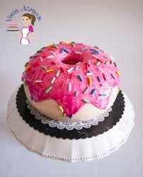 how to make a doughnut cake cake decorating tutorials veena