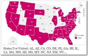 visited states map states visited map my
