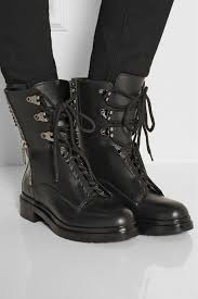black leather motorcycle boots sergio rossi embellished leather biker boots in black lyst