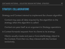 software design pattern strategy software patterns