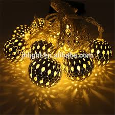Moroccan Outdoor Lights 10 Balls Moroccan Solar String Lanterns Tree Indoor