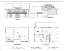 two bedroom ranch house plans post beam house plans and timber frame drawing packages by