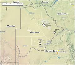 Botswana Map Botswana Diamond Mines Map
