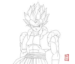 dbz gogeta coloring pages kids coloring