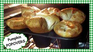 easy fluffy pumpkin popovers recipe happy thanksgiving