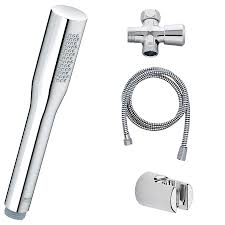 Grohe Shower Systems Grohe 27681000 Starlight Chrome Get Stick Handshower Set