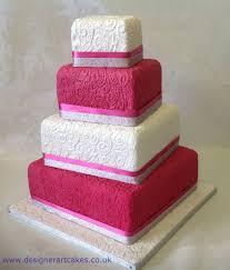 white pink lace sq cake designer art cakes