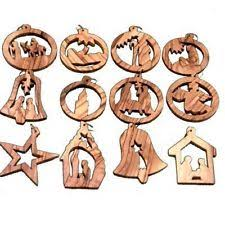 nativity religious wood unbranded ornaments ebay