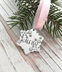 custom baby ornaments baby girl christmas snowflake ornament custom name snow shop