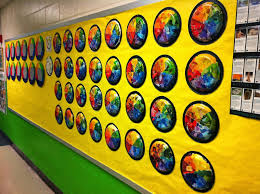 color wheel plates fun art 4 kids