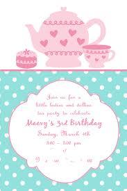 Dinner Party Invitation Card Tea Party Invites Kawaiitheo Com