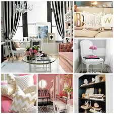 Black And White Room Love The Black White Pink And Gold Theme So Classic And Girly