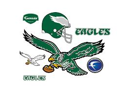 philadelphia eagles home decor philadelphia eagles classic logo wall decal shop fathead for