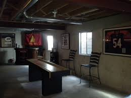 man cave unfinished basement inspirational diy projects