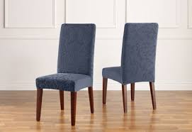 Fabric Dining Chair Covers Sure Fit Stretch Jacquard Damask Dining Chair Covers