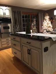 white dove kitchen cabinets with glaze kitchen cabinet refinishing before after