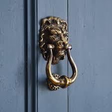 lion door knocker aged brass lion s door knocker