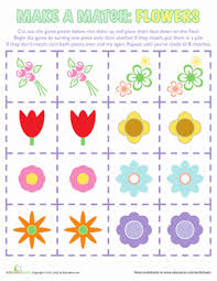 flower matching game worksheet education com