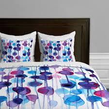 amazon com deny designs cmykaren abstract watercolor duvet cover
