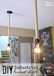 Hanging Light Fixtures For Kitchen Diy Industrial Pendant Light For Under 10 Bless U0027er House