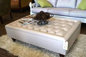 Ottoman Tables Square Leather Tufted Ottoman Etechconsulting Co