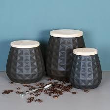 black storage jars set of three storage jars storage and kitchens