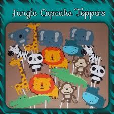set of 12 jungle theme cupcake toppers safari theme circus