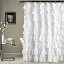 White Ruffled Curtains by Lush Decor Ruffle Curtains Best Decoration Ideas For You